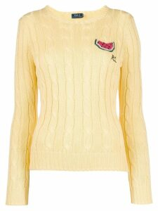 Polo Ralph Lauren logo knitted sweater - Yellow