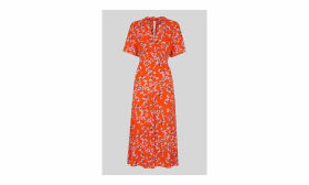 Digital Daisy Zelena Dress