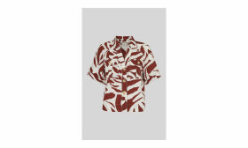 Graphic Zebra Linen Shirt