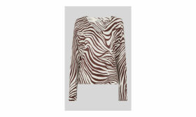 Graphic Zebra Print Linen Knit