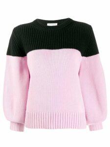 Alexander McQueen colour block cashmere jumper - Pink