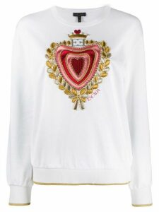 Escada embroidered chest jumper - White