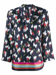 Escada abstract print blouse - Blue