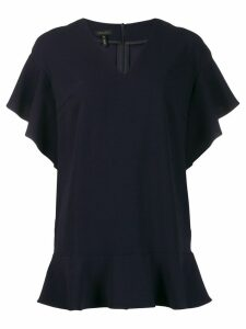 Escada ruffle hem blouse - Blue