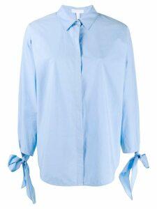 Escada Sport bow detail shirt - Blue
