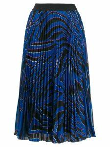 Escada Sport pleated print skirt - Blue