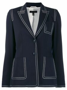 Escada contrast stitch blazer - Blue