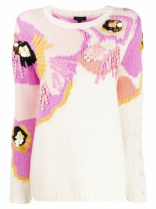 Escada sequin embellished knit jumper - White
