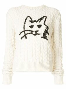 MSGM Naflia cat print jumper - White