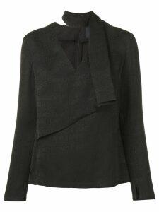 Cavalli Class logo blouse - Black