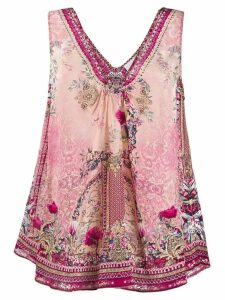 Camilla printed sleeveless blouse - PINK