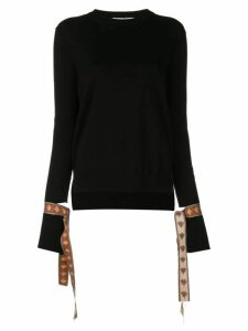 Oscar de la Renta tied cuffs jumper - Black