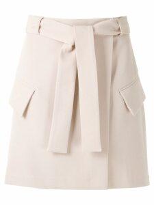 Framed High Tailoring mini skirt - NEUTRALS