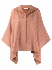 See By Chloé poncho style brushed fleece - ORANGE