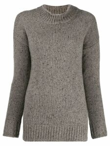Liska speckled-knit jumper - Neutrals