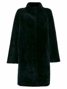 Liska oversized single-breasted coat - Blue
