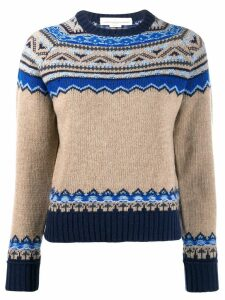 Golden Goose merino wool knitted print sweater - NEUTRALS