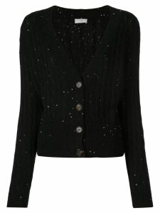 Brunello Cucinelli cable knit cardigan - Black