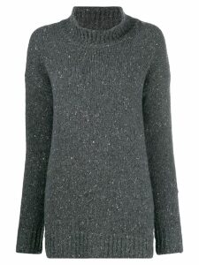 Liska speckled-knit jumper - Grey
