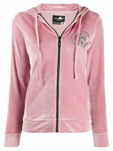 Plein Sport Tiger zipped hoodie - Pink