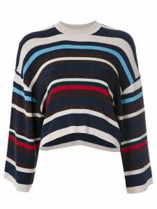 Osklen striped cropped sweater - Blue