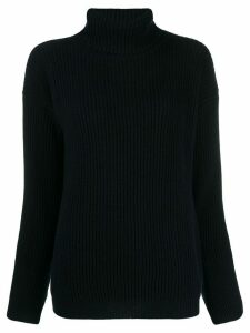 Liska roll-neck fitted sweater - Blue