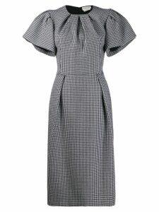 Alexander McQueen Dogtooth midi pencil dress - Black