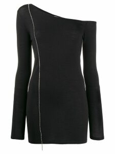 Nº21 crystal-embellished one-shoulder jumper - Black