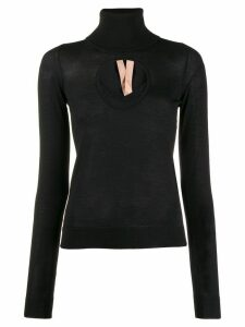 Nº21 cut-out turtleneck sweater - Black