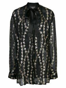 Haider Ackermann floral embroidery sheer blouse - Black
