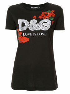 Dolce & Gabbana logo print T-shirt - Black