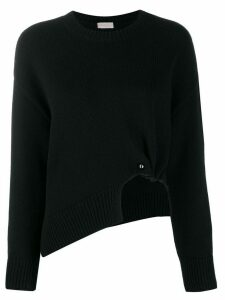 MRZ asymmetric knit jumper - Black