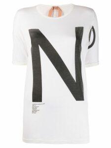 Nº21 logo print T-shirt - White