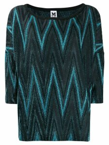 M Missoni lurex zig zag blouse - Black