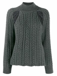 MRZ cut out jumper - Grey