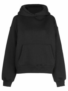 T By Alexander Wang deconstructed hoodie - Black
