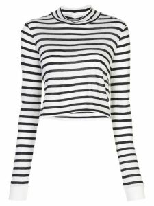 T By Alexander Wang long-sleeved striped T-shirt - White