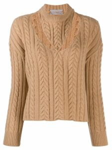 MRZ cut out jumper - NEUTRALS