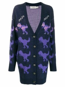 Coach Rexy print cardigan - PURPLE