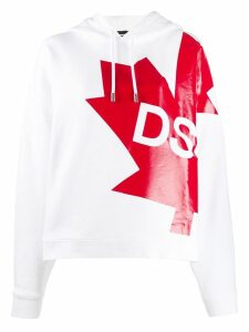 Dsquared2 Canada flag hoodie - White
