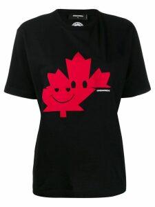 Dsquared2 leaf print T-shirt - Black