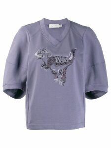 Coach Rexy embroidered jumper - Purple