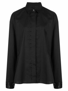 Haider Ackermann cut-out detail shirt - Black