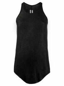 Rick Owens asymmetric hem tank top - Black