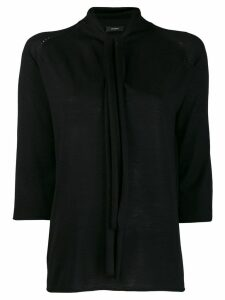 Joseph neck-tied top - Black