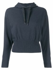 Brunello Cucinelli hooded jumper - Blue