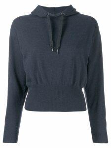 Brunello Cucinelli hooded jumper - Blue