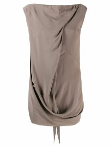 Rick Owens draped tank top - Brown