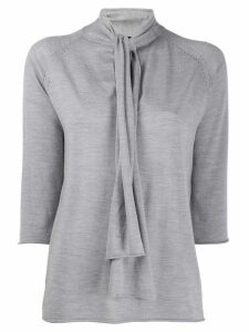Joseph neck-tied blouse - Grey