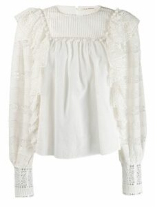 Ulla Johnson ruffle embroidered blouse - White